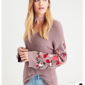 American Eagle Outfitters Embroidered Sweater